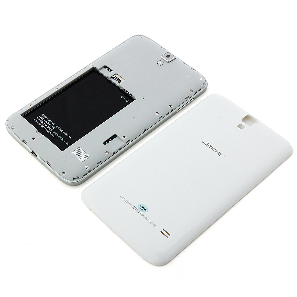 "Ampe A62 3G Tablet PC MTK8382 Quad Core 6.2"" Android 4.2 IPS  Screen 8GB White"