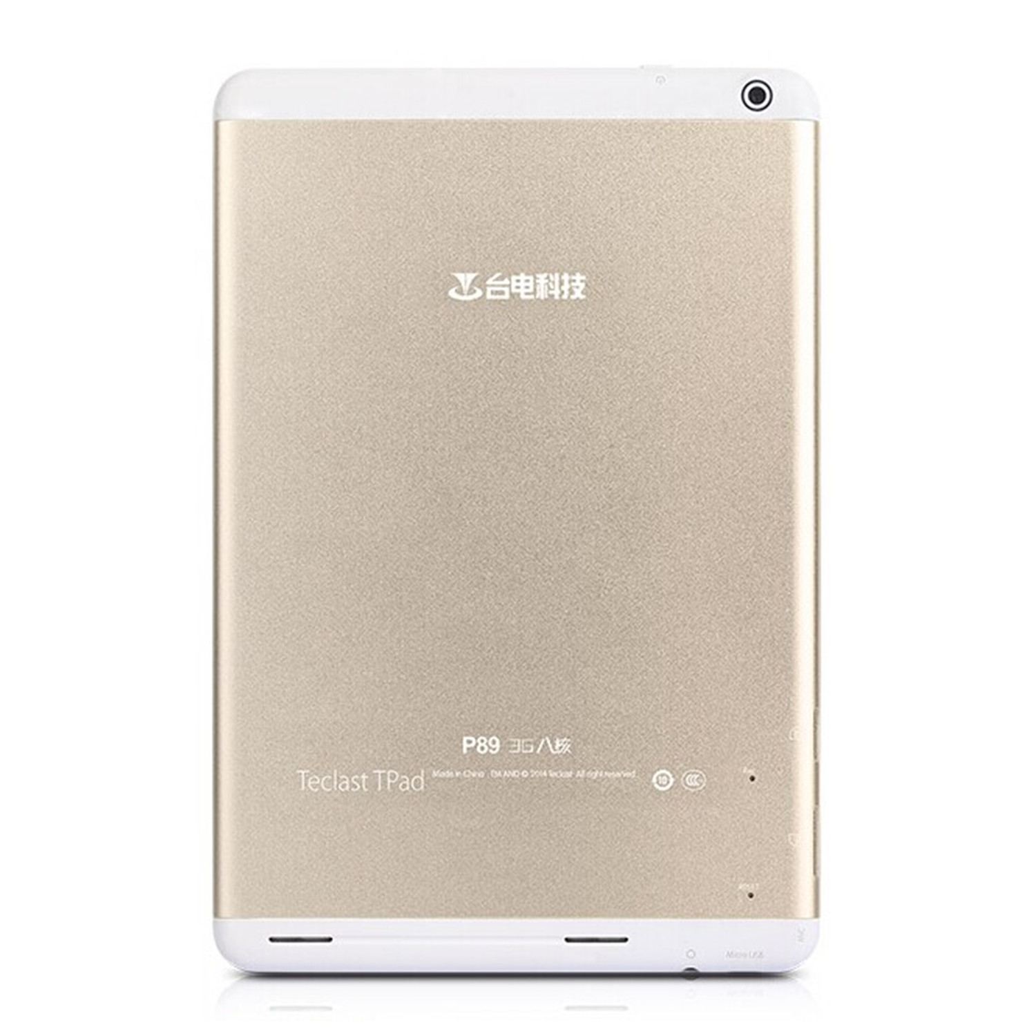 "Teclast P89 3G Tablet PC MTK8392 Octa Core 7.9"" Android 4.4 Retina Screen 16GB Golden"