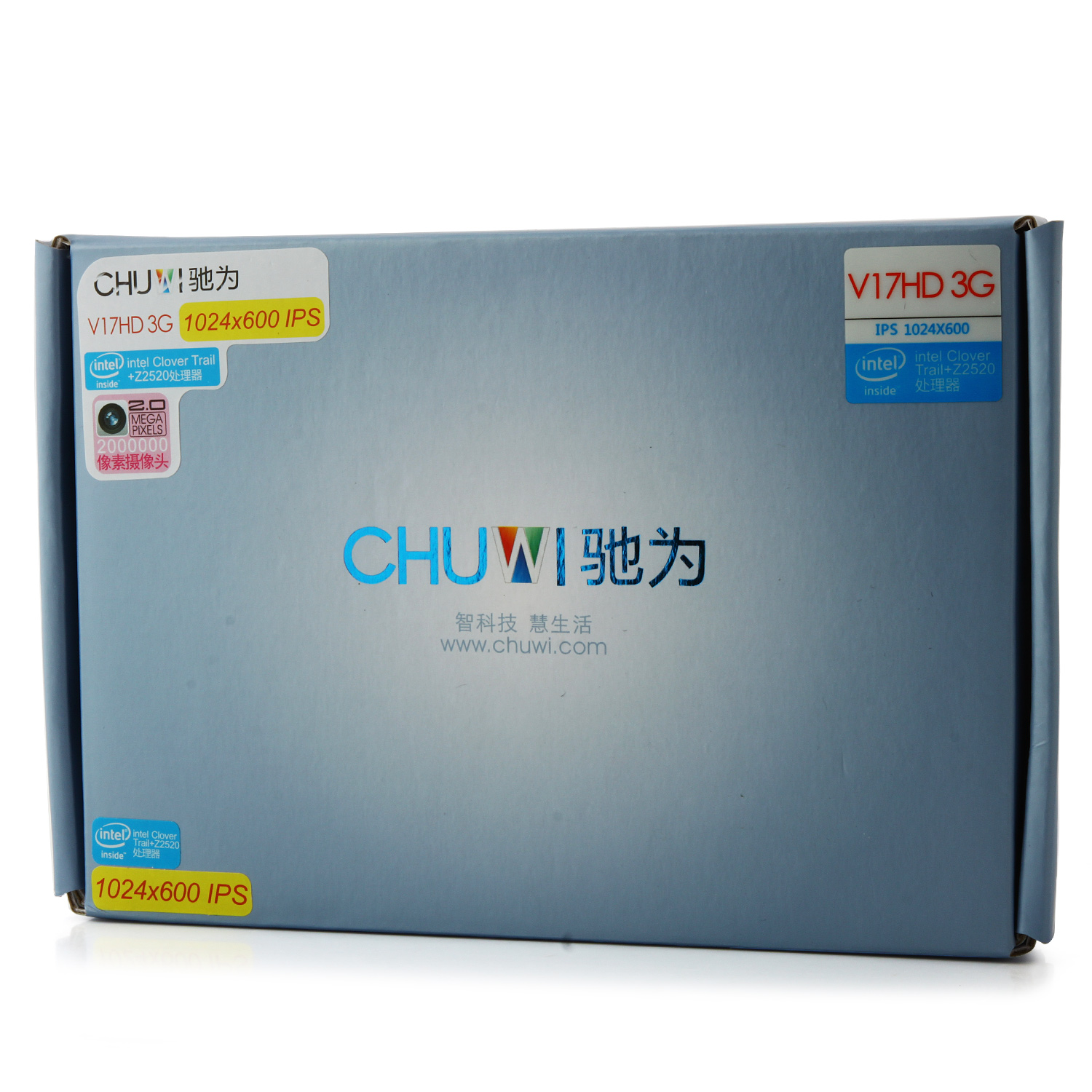 CHUWI V17HD 3G Tablet PC Intel Z2520 7.0 Inch Android 4.2 IPS Screen 8GB White