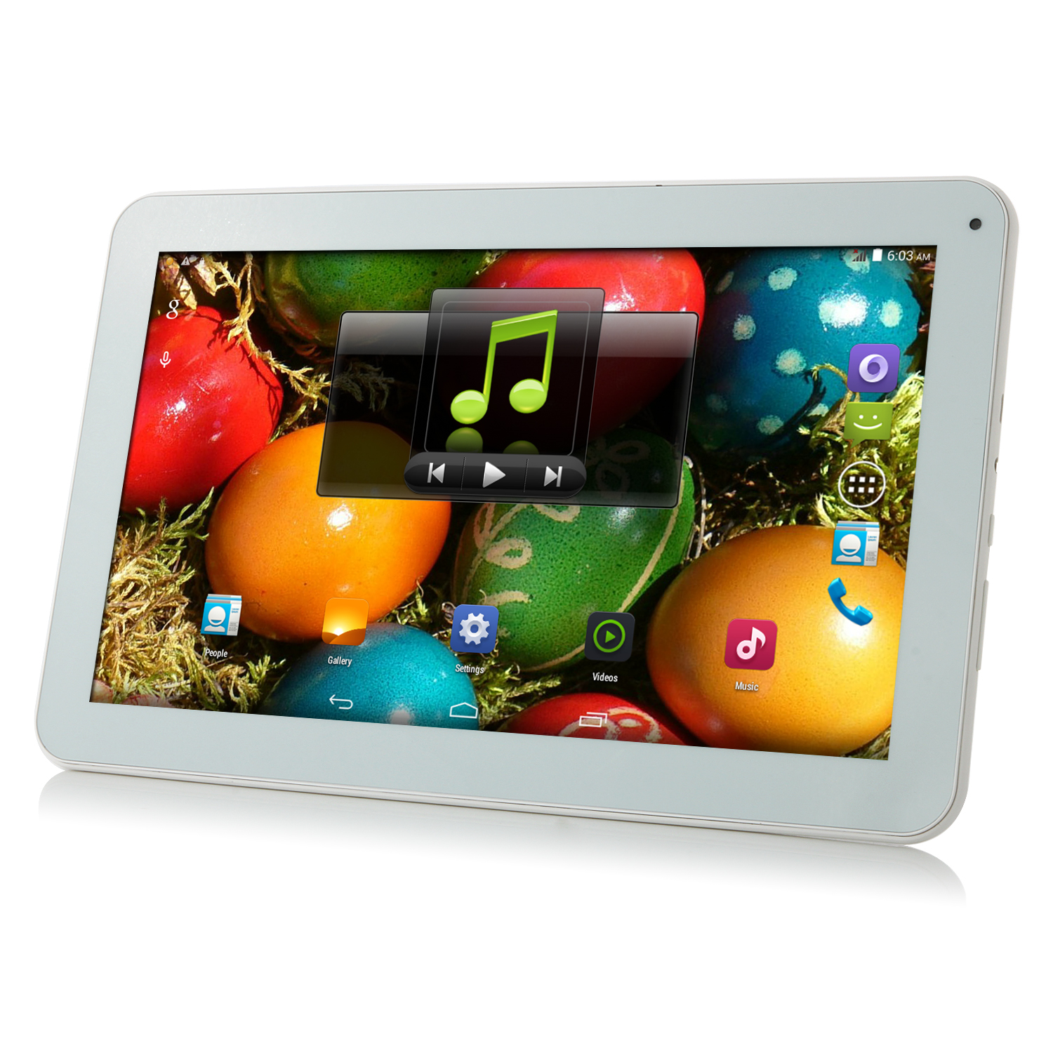 ICOO Q10 Tablet PC MTK8312 Dual Core 10.1 Inch Android 4.4 8GB 3G WCDMA Silver