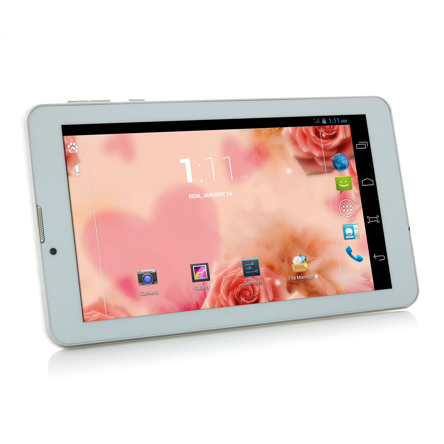 Soulycin T8 3G Tablet PC MTK8382 Quad Core 7.0 Inch Android 4.2 IPS 8GB White