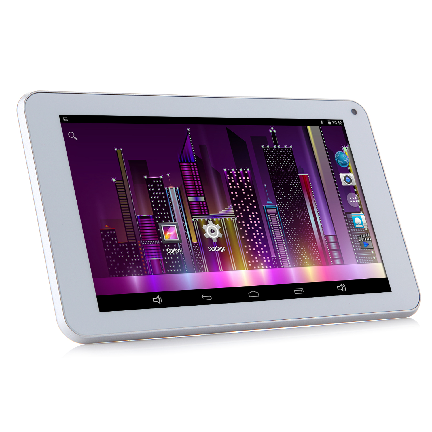 HUU H7 SMART Tablet PC RK3126 Quad Core 7.0 Inch Android 4.4 IPS Screen 8GB White