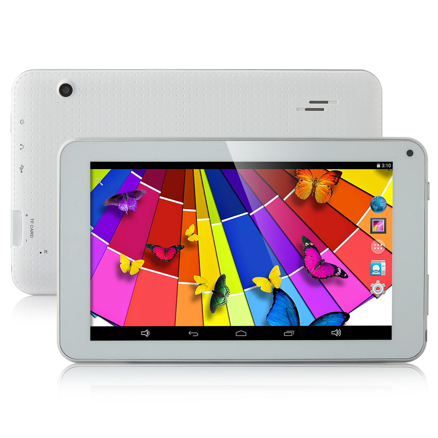 H701 Tablet PC RK3126 Quad Core 7.0 Inch Android 4.4 IPS Screen 8GB White