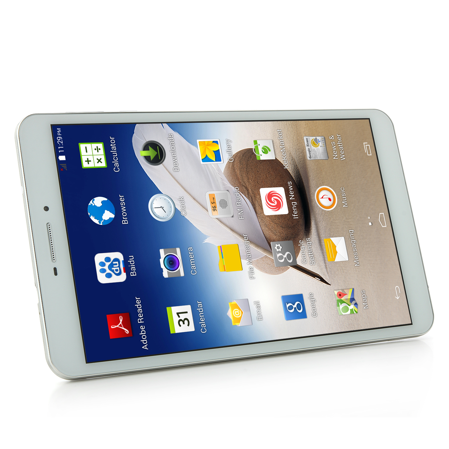 Ampe A88 3G Tablet PC MTK8382 Quad Core 8.0 Inch Android 4.4 IPS HD Screen 8GB White