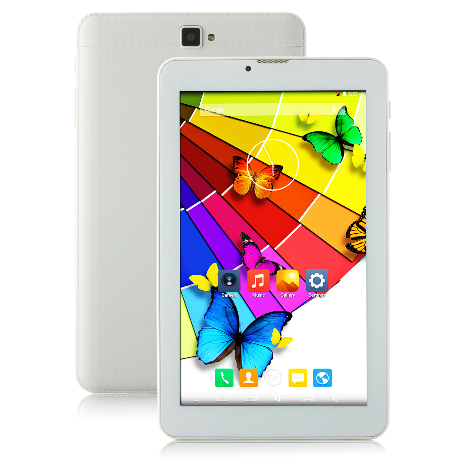 HUU H718 Tablet PC MTK8312 Dual Core 7.0 Inch Android 4.4 IPS Screen 1GB 8GB White