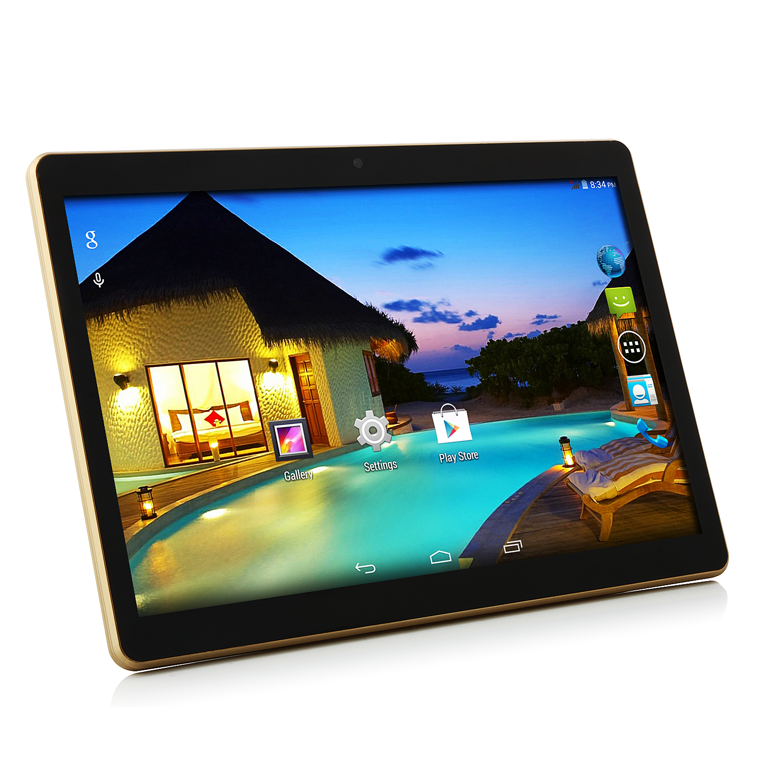 "MTP342 I960 3G Tablet PC MTK6582M Quad Core 9.7"" Android 4.4 IPS 1GB 8GB Black"