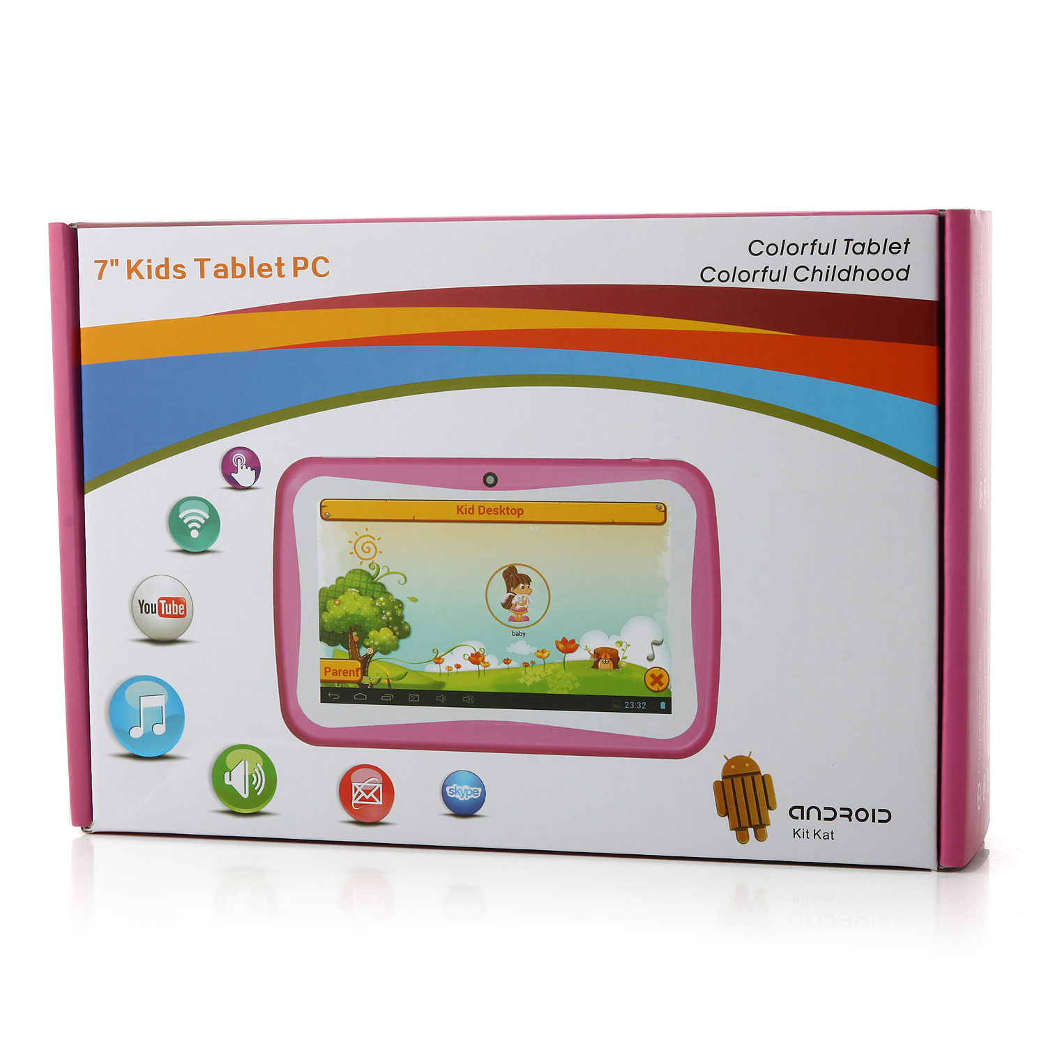 MTP346 R70AC-D KIDS Tablet PC Quad Core RK3126 1.2GHz 7.0 Inch Android 4.4 8GB Rose