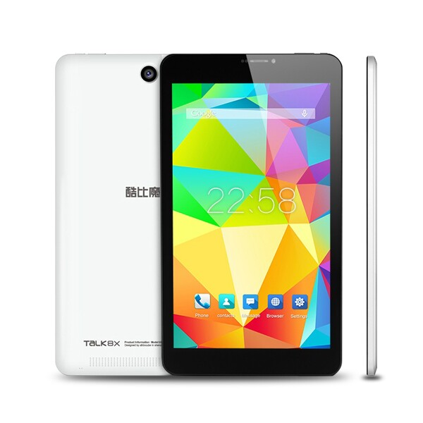 CUBE TALK 8X Tablet PC MTK8392 Octa Core 8 Inch Android 4.4 IPS Screen 8GB Black&White