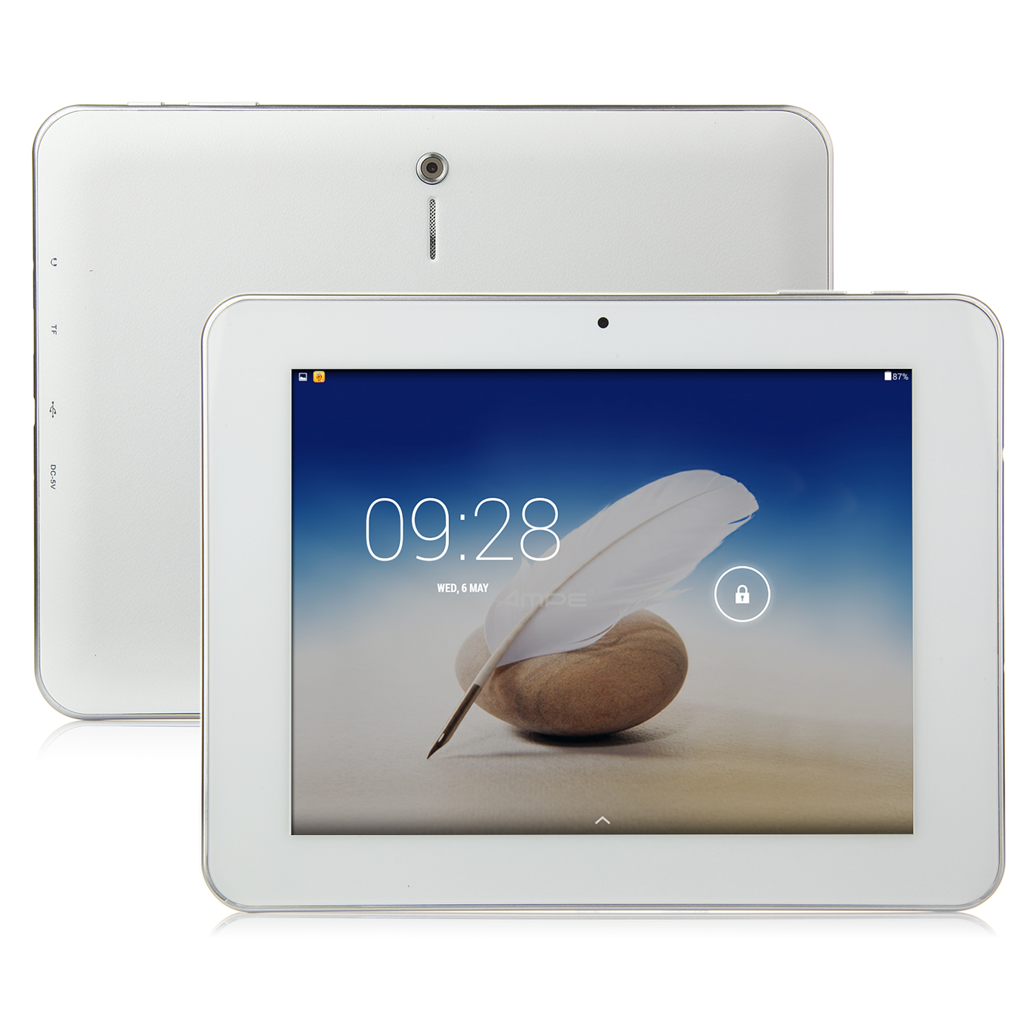 Ampe A85 Tablet PC All Winner A33 Quad Core 8.0 Inch Android 4.4 HD Screen 8GB White