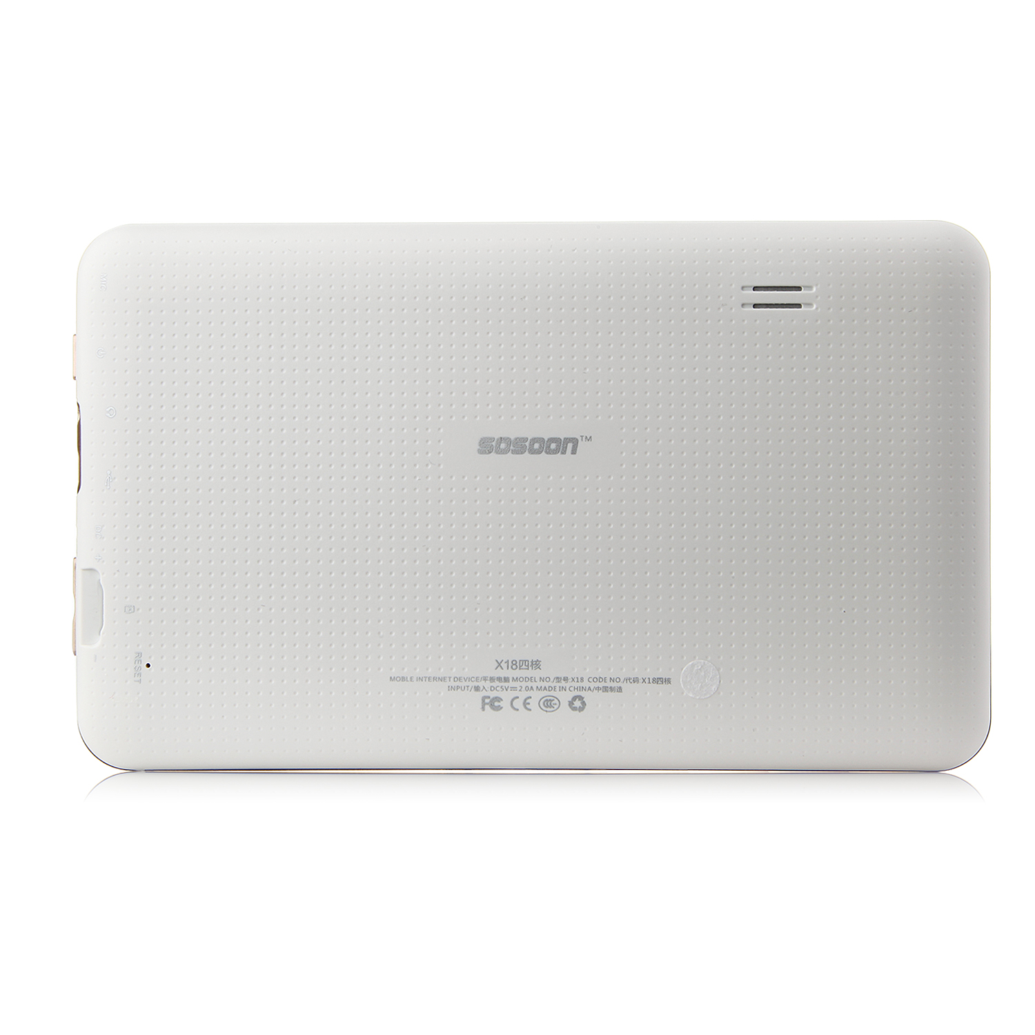 SOSOON X18 Tablet PC AllWinner A33 Quad Core 7.0 Inch Android 4.4 8GB White