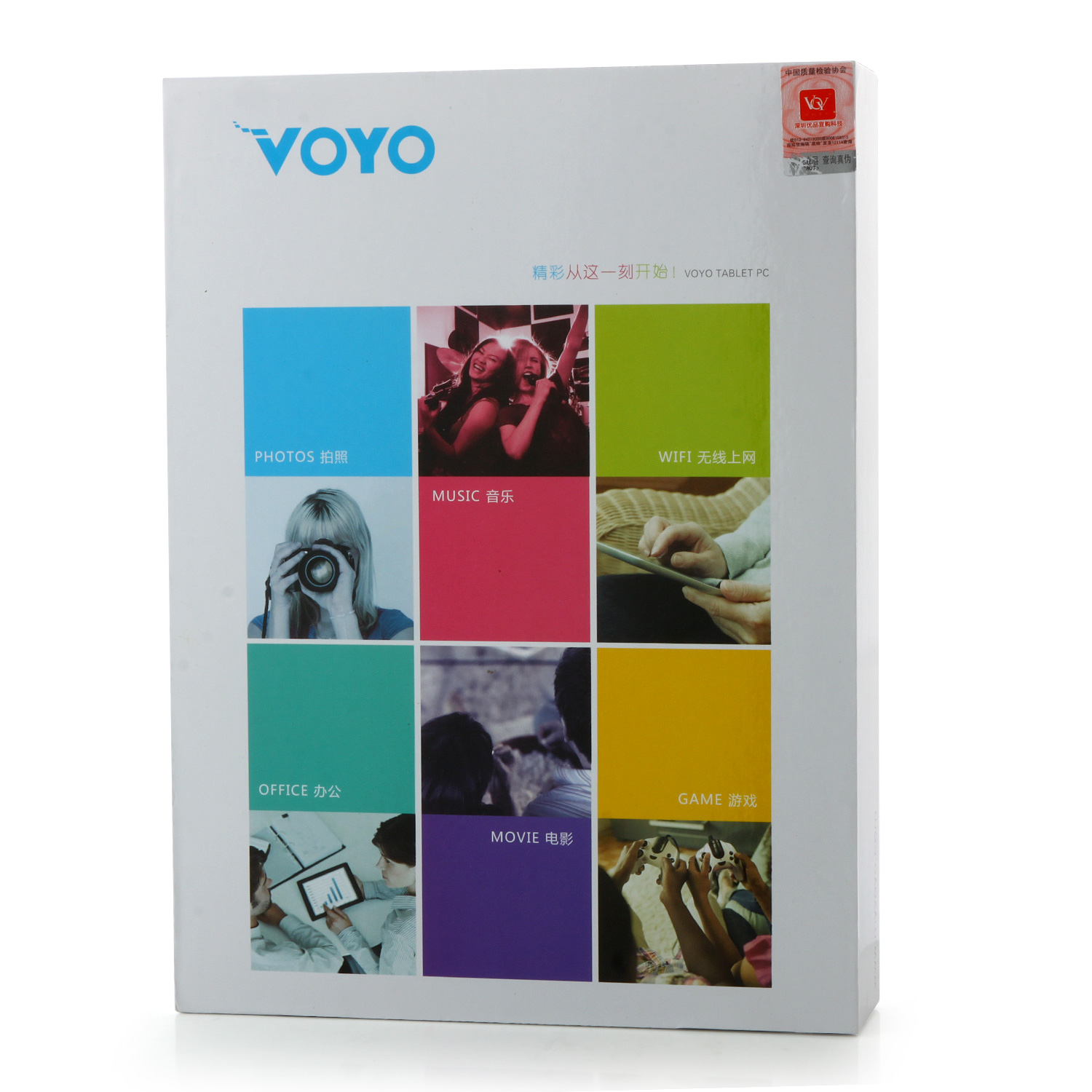 VOYO Q901HD 3G Tablet PC MTK6582 Quad Core 9.6 Inch Android 4.4 IPS 1GB 8GB White