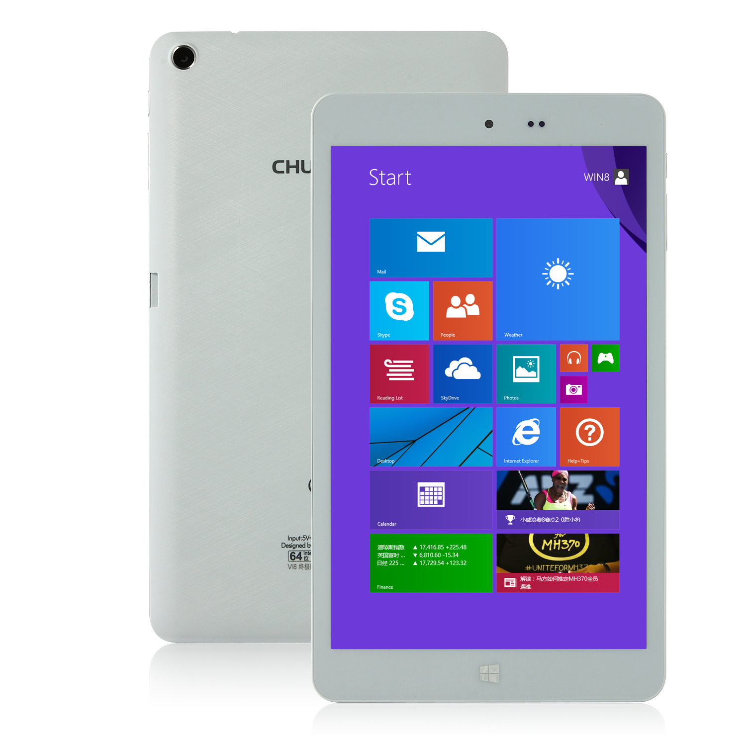 "CHUWI Vi8 Super Tablet PC Dual Boot Intel Z3736F IPS HD 8.0"" 2GB 32GB White"
