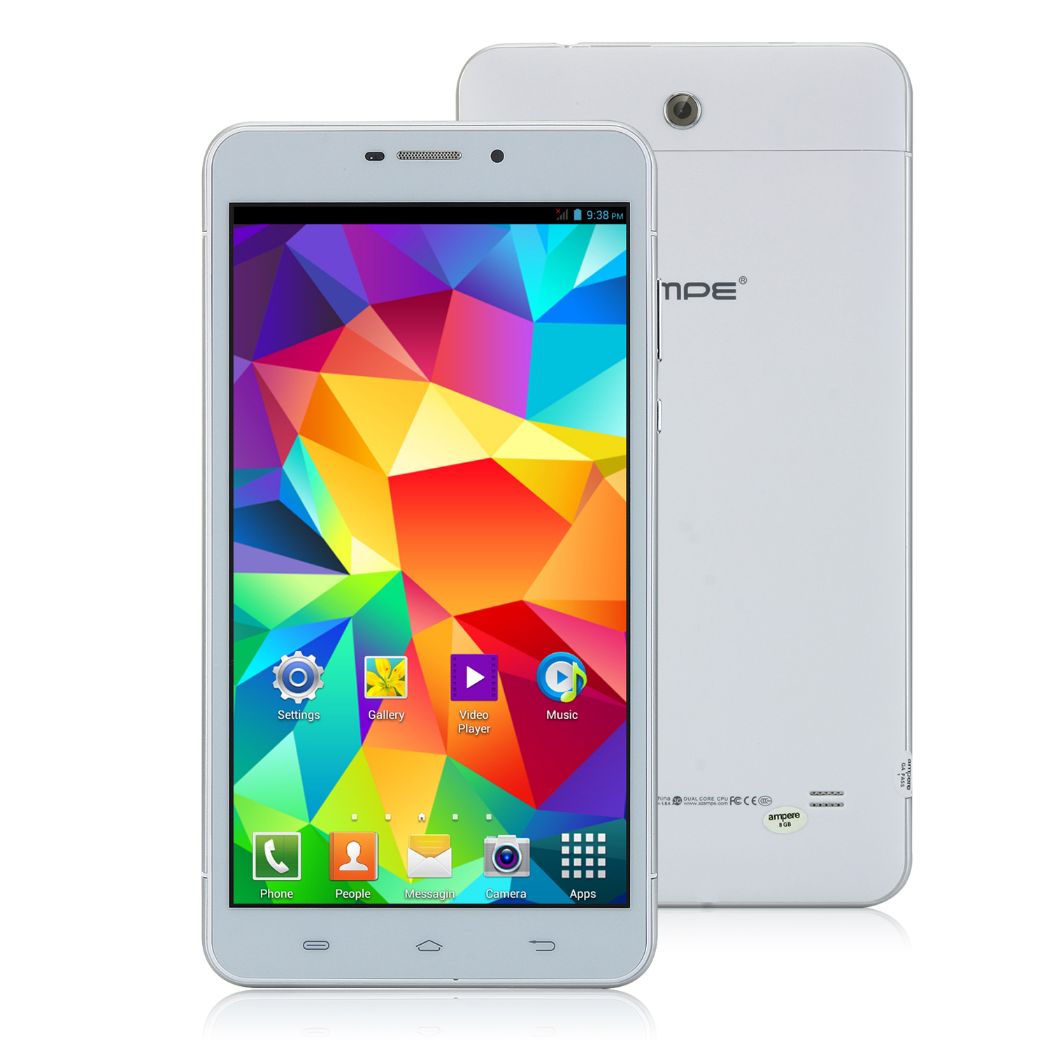 Ampe A698 3G Tablet PC 6.98 Inch MTK6572W Dual Core Android 4.2 IPS 8GB White