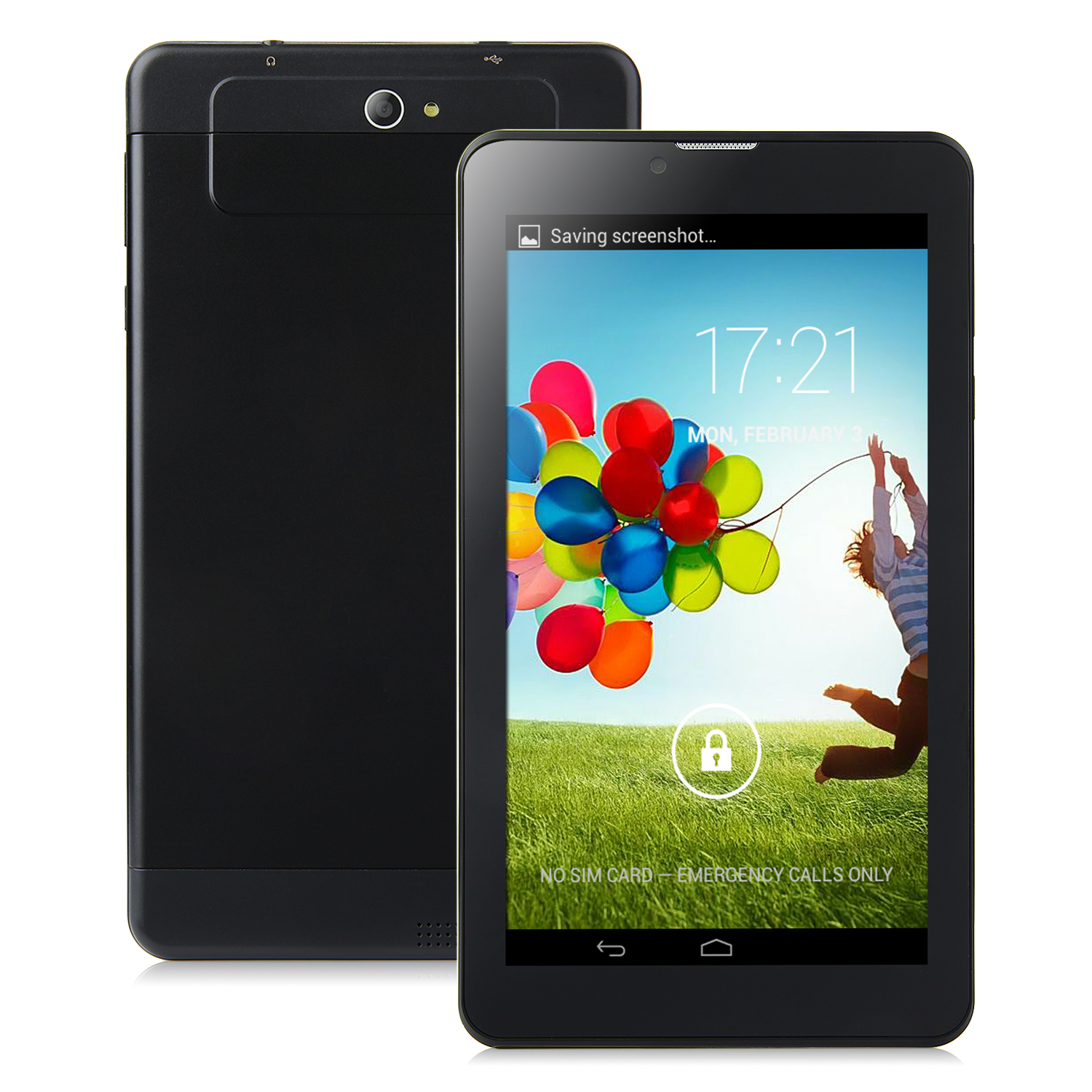 S73 3G Tablet PC 7.0 Inch Dual Core MTK6572W Android 4.2 4GB WCDMA Black