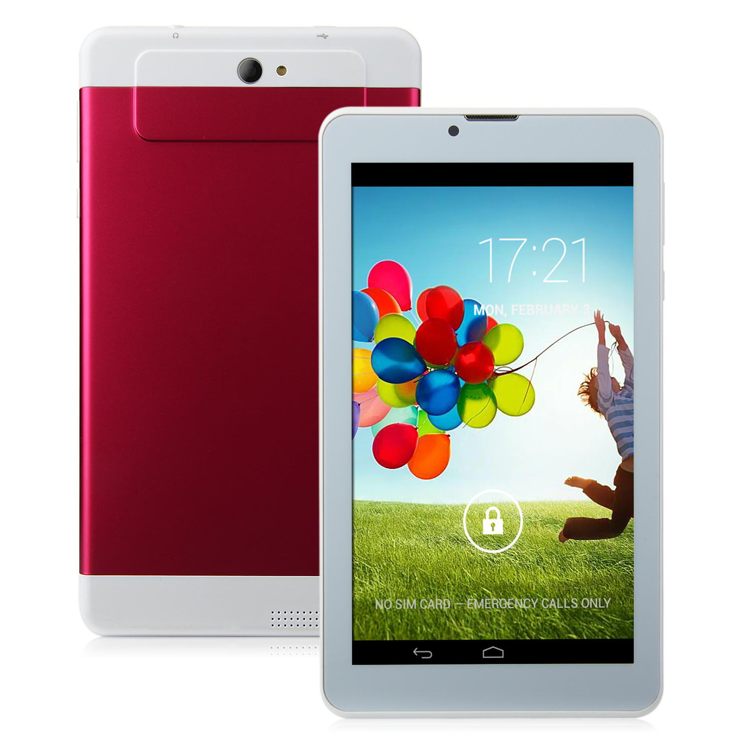 S73 3G Tablet PC 7.0 Inch Dual Core MTK6572W Android 4.2 4GB WCDMA Red