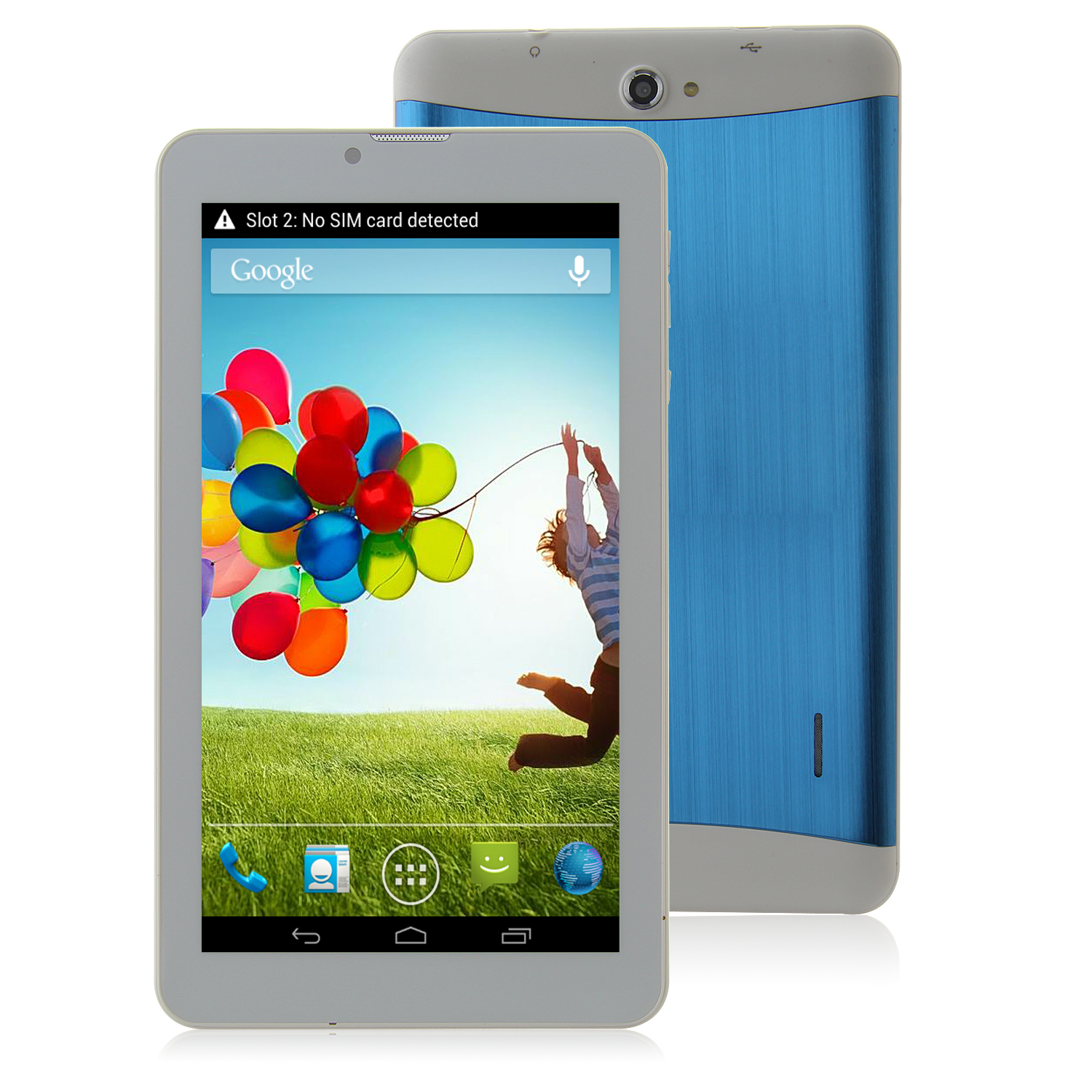 S72 3G Tablet PC 7.0 Inch Dual Core MTK6572W Android 4.2 4GB WCDMA Metal Shell Blue