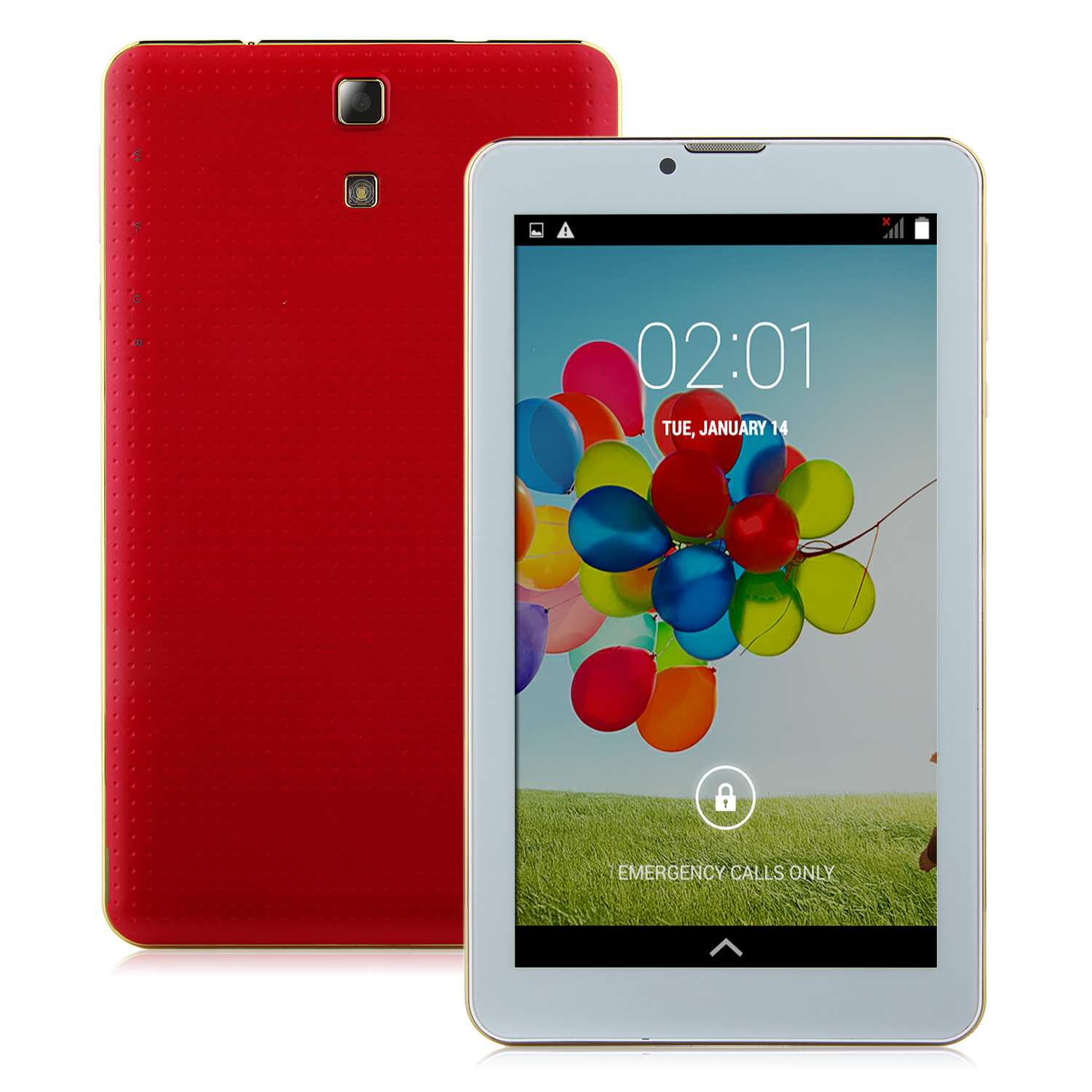 S75 3G Tablet PC 7.0 Inch Dual Core MTK6572W Android 4.4 4GB Red