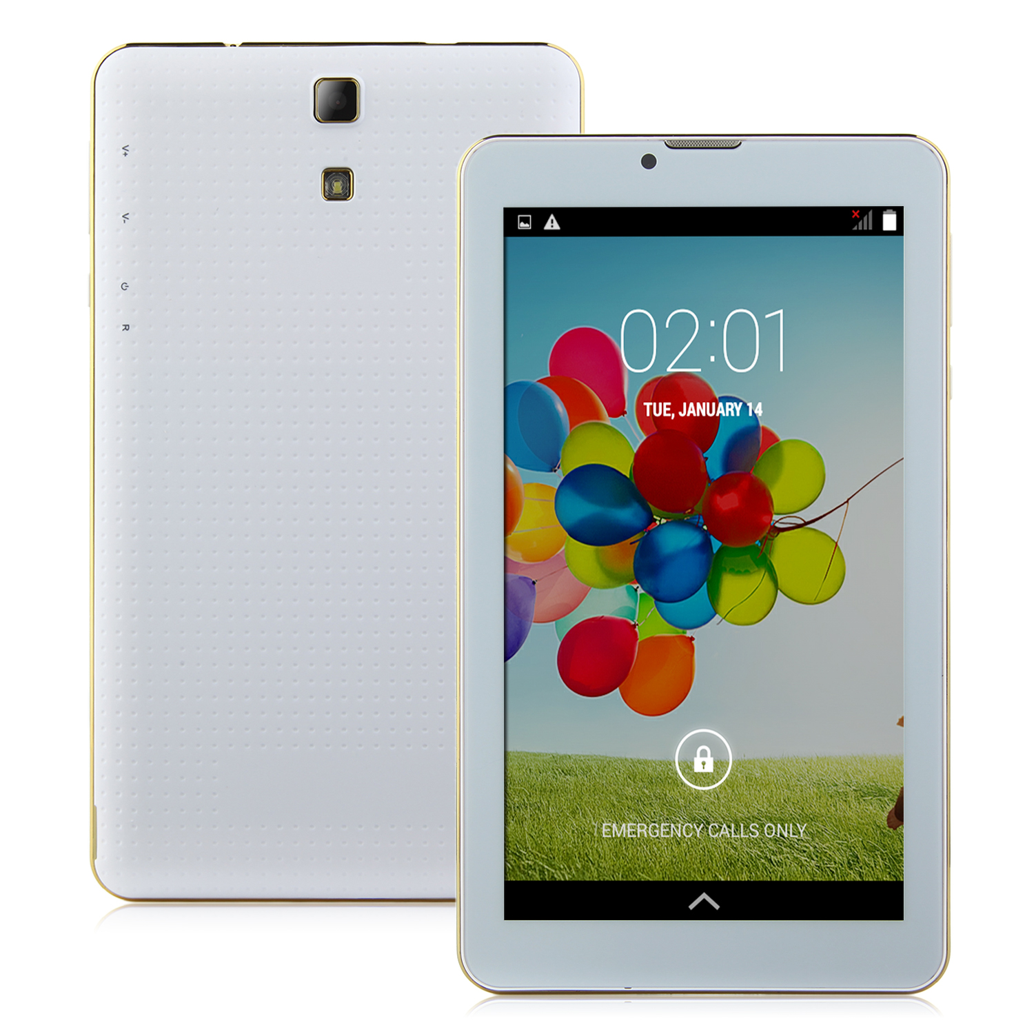 S75 3G Tablet PC 7.0 Inch Dual Core MTK6572W Android 4.4 4GB White