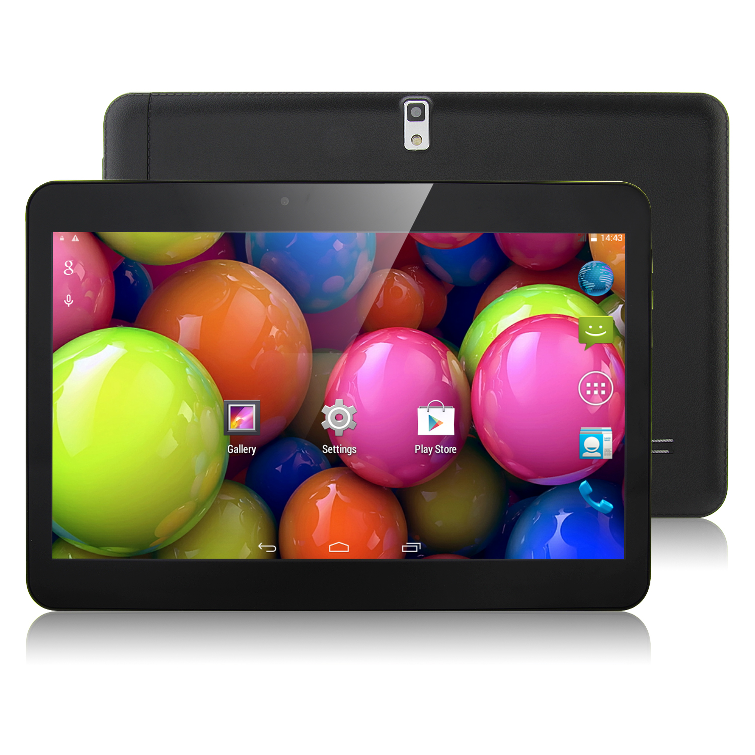 N9106 3G Tablet PC 10.1 Inch Dual Core MTK6572W Android 4.4 8GB WCDMA Black