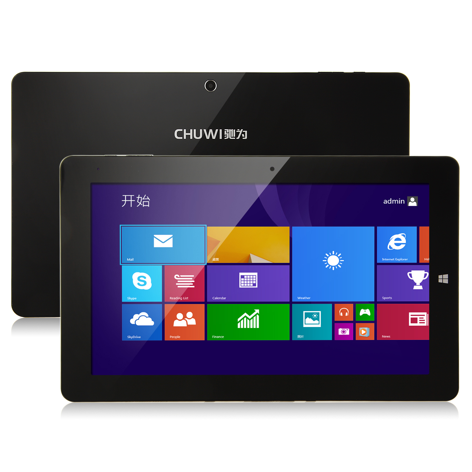 "CHUWI Vi10 Pro Tablet PC Dual Boot Intel Z3736F Quad Core 64Bit 10.6"" 2GB 64GB Black"
