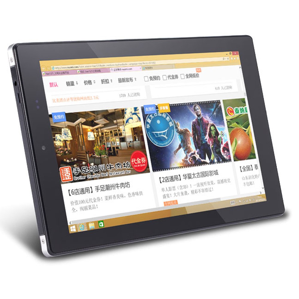 "PiPo W6S Dual Boot 3G Tablet PC Intel Z3735F Quad Core 8.9"" 1920*1200 2GB 64GB Black"