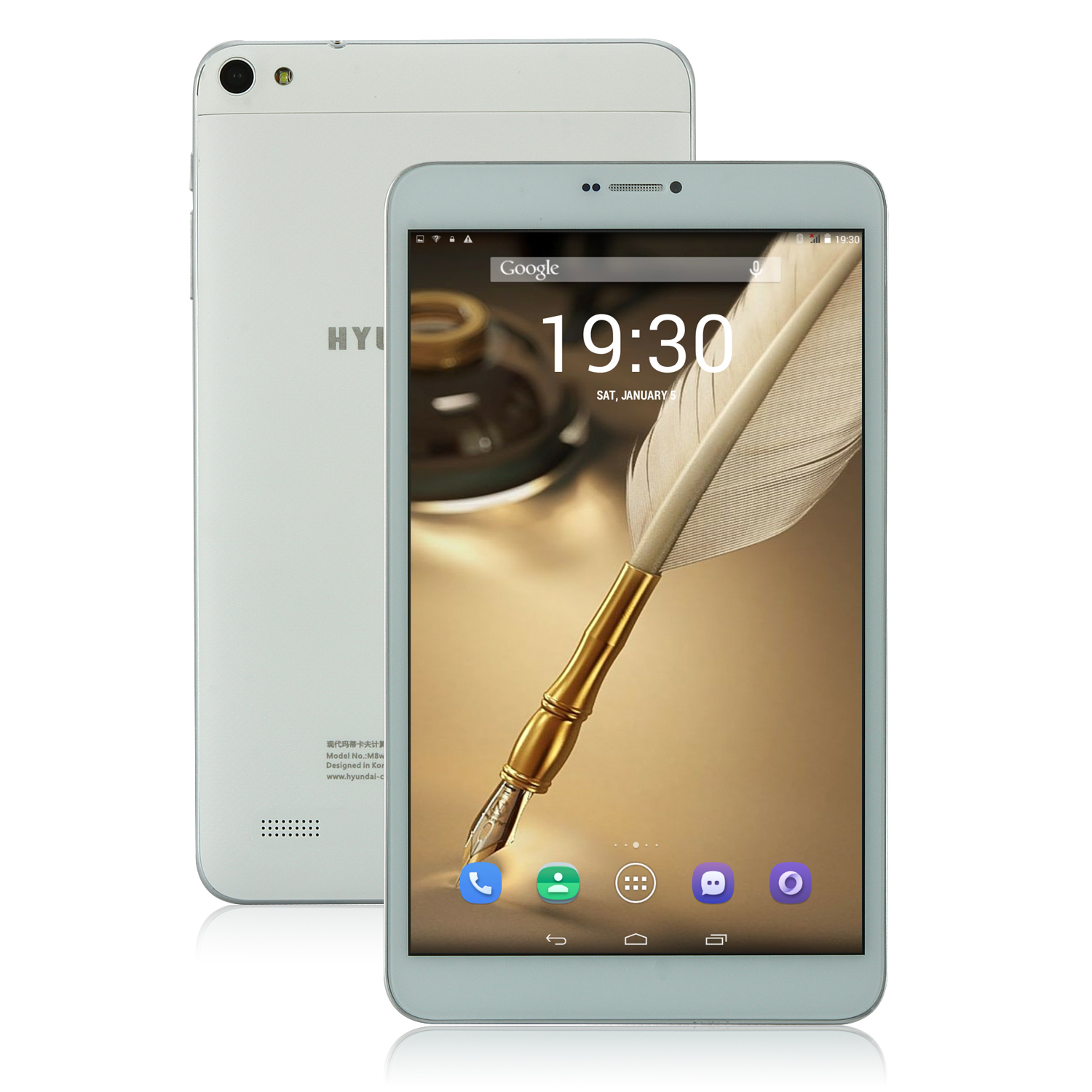 Hyundai M8W 3G Tablet PC MTK6582 Quad Core 8.0 Inch Android 5.0 1GB 8GB White