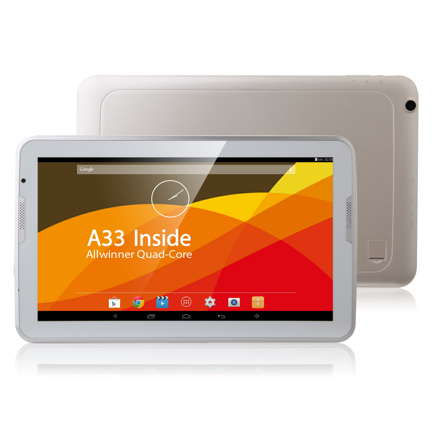 AIWA W1030 Tablet PC 10.6 Inch Quad Core A33 Android 4.4 IPS 1GB 8GB White