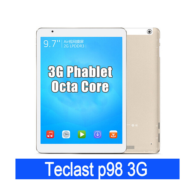 "Teclast P98 3G Tablet PC 9.7"" IPS MT8392 Octa Core Android 4.4 2GB 16GB OTG GPS Gold"