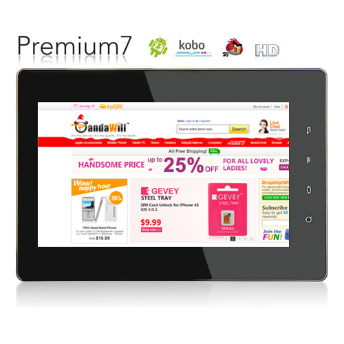 EFUN NextBook PREMIUM 7 Tablet PC 7 Inch Android 4.0 4GB Black