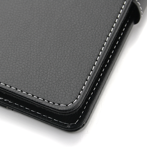 One-size-fits-all Leather Case Bag for 7 Inch MID/GPS Black
