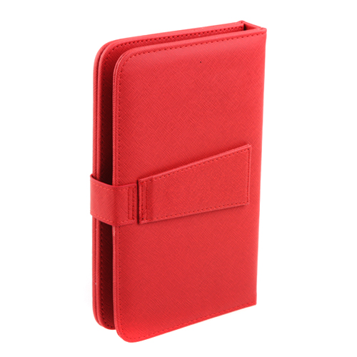 Protective Leather Case with Stand Keyboard for 7'' Tablet GPS- Red