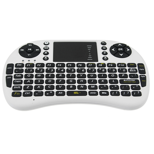 UKB-500-RF 2.4G Wireless Mini Touchpad Keyboard 92-Keys