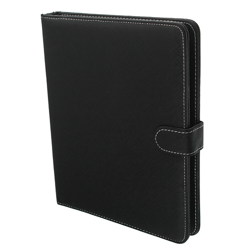 Black Leather Stand Case USB 2.0 Keyboard for 9.7 Inch Tablet PC