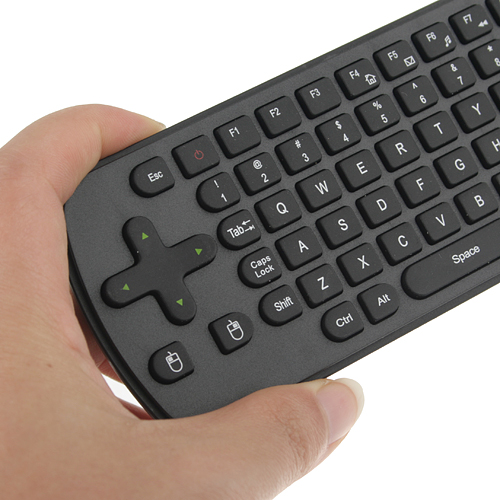 RC12 Air Mouse Presenter 2.4GHz + QWERTY Keyboard + Touch Panel for Tablet PC Android TV Box HTPC- Black
