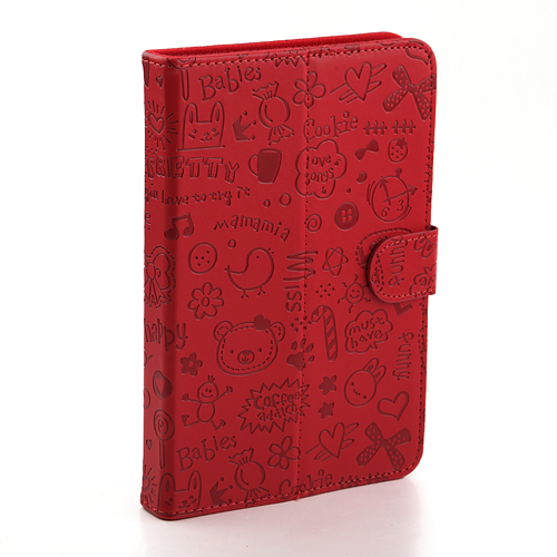7.0 Inch Protective Leather Stand Case with Magnetic Closure for Tablet PC