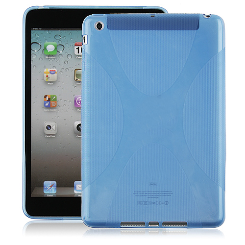 Protective Silicone Rubber Back Case Cover for iPad mini
