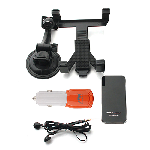 Freelander R20 Mobile Power Bank+C02 Car Charger+Earphone+Stand Holder with Suction Cup