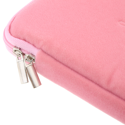 8 Inch Luxurious Flannel Zipper Bag For Tablet PC