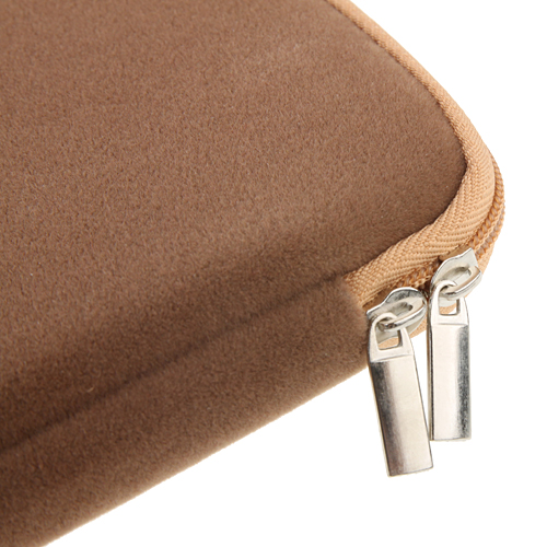 9.7 Inch Luxurious Flannel Zipper Bag For Tablet PC