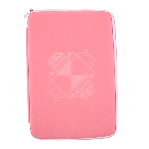 10.1 Inch Luxurious Flannel Zipper Bag For Tablet PC