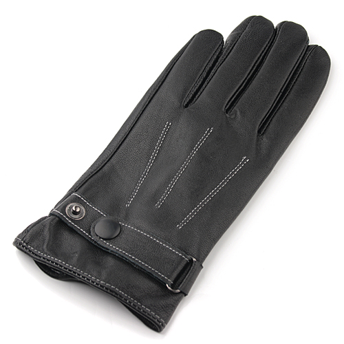 Capacitive Touch Screen Leatherette Glove Black