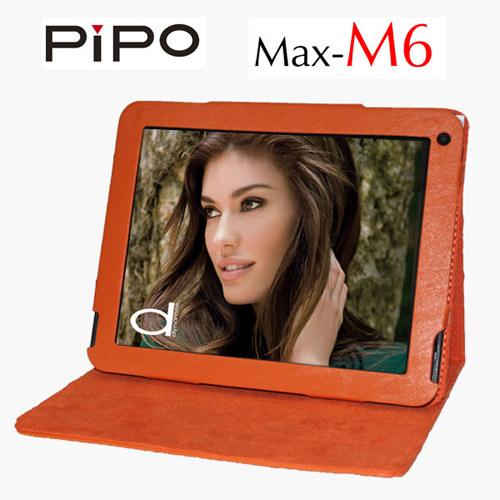 Fashion Portable PU Leather Stand Case Protective Case Cover for PIPO M6 Orange