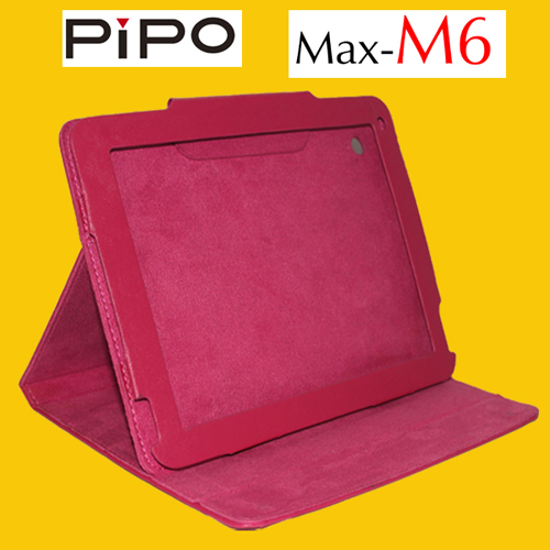 Fashion Portable PU Leather Stand Case Protective Case Cover for PIPO M6  Rose