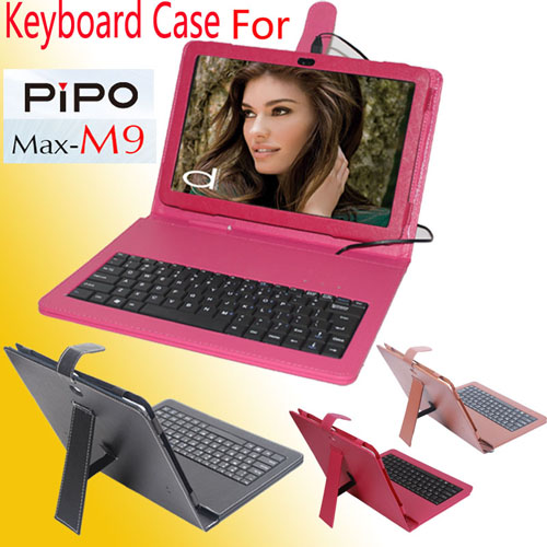 Protective Professional PU Leather Keyboard Stand Case Cover for PIPO M9  3 Color