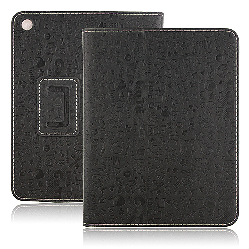 Lovely Cartoon Pattern Design Leather Case For ONDA V813 Tablet Black