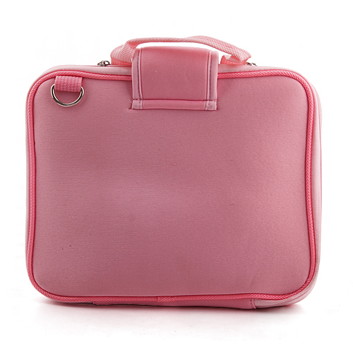 Neoprene Computer Bag with Mini Pocket for iPad Tablet PC Pink