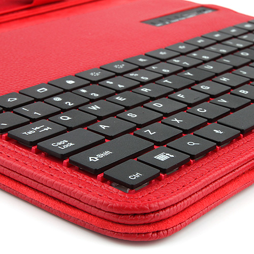Portable Bluetooth Keyboard Case for Samsung Tab3 P5200  Red