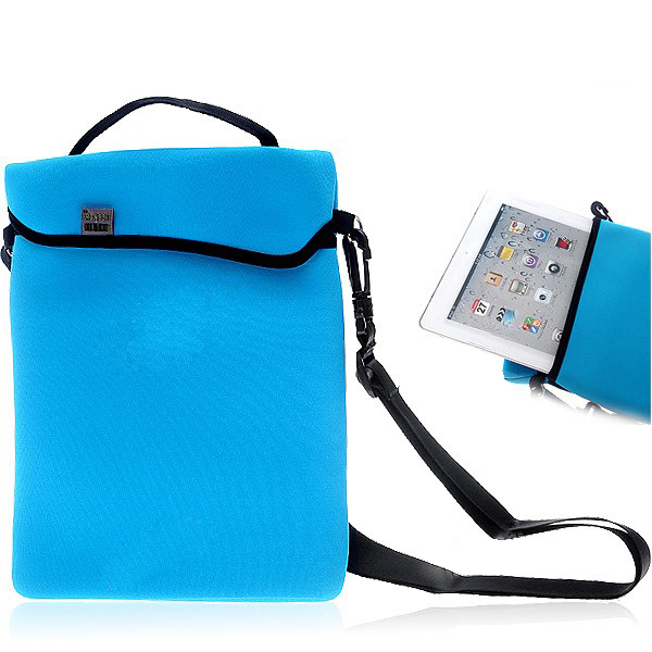 Quakeproof & Dampproof Neoprene Soft Handbag Shoulder Bag for iPad 2 Color Optional
