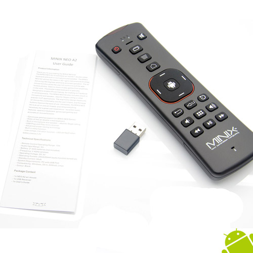 MINIX NEO A2 2.4GHz Wireless Air Mouse & Keypad with Micphone Speaker for Android TV Box