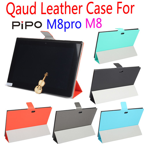 Fashional Ultra Thin Soft Waterproof Quad Leather Case Cover for PIPO M8Pro M8 5 Colors